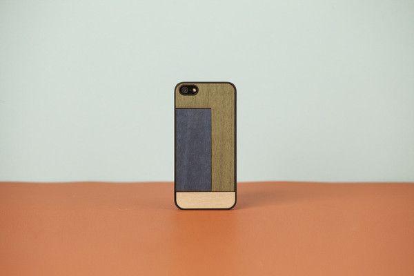 """wood'd COVER IPHONE """"INLAYS"""" - TETRIS GREEN"""