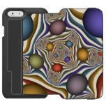 Flying Up modern and abstract Fractal Art Pattern iPhone 6/6s Wallet Case