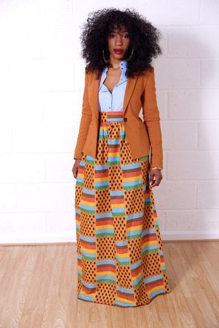 Maxi Skirts – Grass-Fields ~African fashion, Ankara, kitenge, African women dresses, African prints, Braids, Nigerian wedding, Ghanaian fashion, African wedding ~DKK