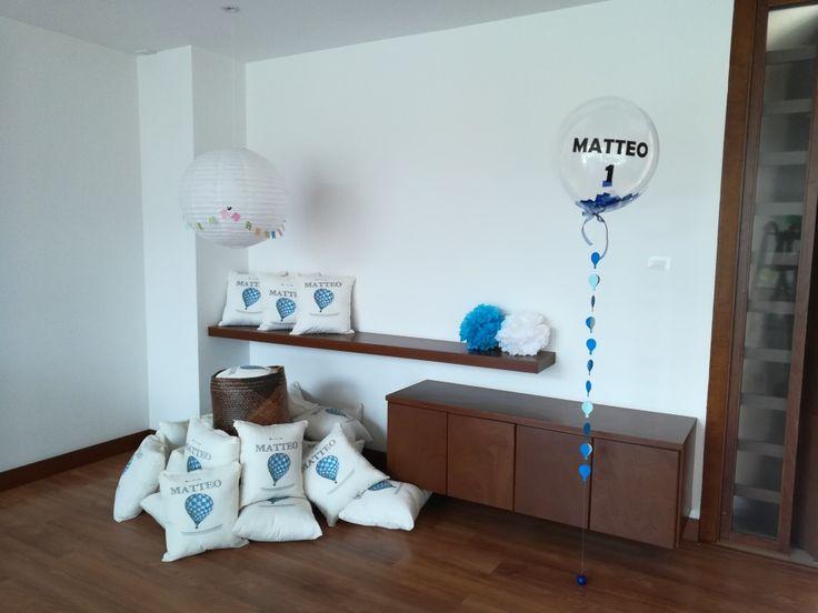 First birthday air hot baloon decoration suvenir