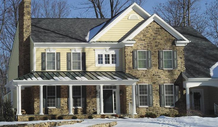 28 best images about house stone facade on pinterest - Houses with stone veneer facades ...