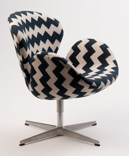 Black White Zig Zag Amagansett Arne Jacobson Swan Chair only good grief I love it but seriously the price is crazy