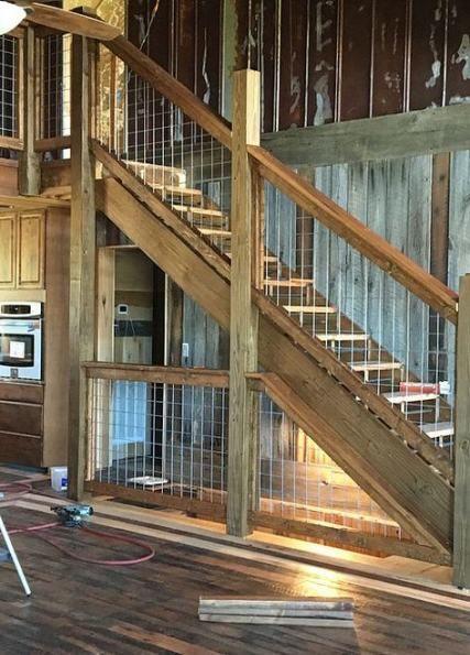36 Ideas rustic stairs railing barn wood #wood #stairs ...