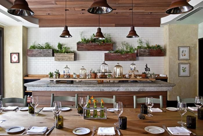 Lovely idea with the herbs in the kitchen. #kitchen #herbs #wood #white #modern #classic