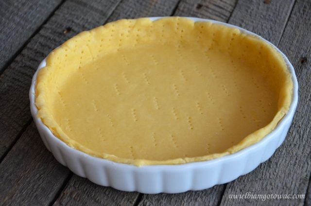 Kruche ciasto na tartę (wytrawne)