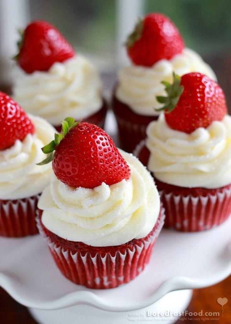 strawberry-red-velvet-cupcake-great-valentine-fruit-dessert-for-him-recipe-ideas