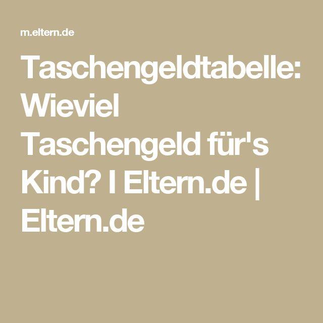 Taschengeldtabelle: Wieviel Taschengeld für's Kind? I Eltern.de   Eltern.de