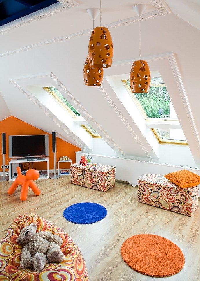 Lampa Assai w projekcie pokoju dziecięcego /  Kosmiczna przestrzeń | Projektowanie Wnętrz – Ul a Kołodziejek-Herman  #PhilipsLighting #pokójdziecka #pomarańczowy #lampa #design