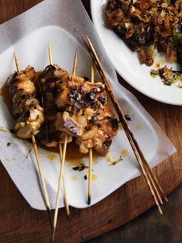 garlic chicken pinchos / australian gourmet traveller