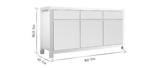 Buffet design blanc WIL - Miliboo