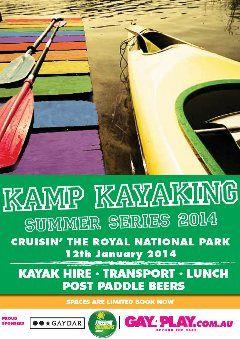 Gruubi • Play - LGBTQ Events: Kamp Kayaking Crusin' The Royal. Royal National Park, Sydney, January 12, 2014.