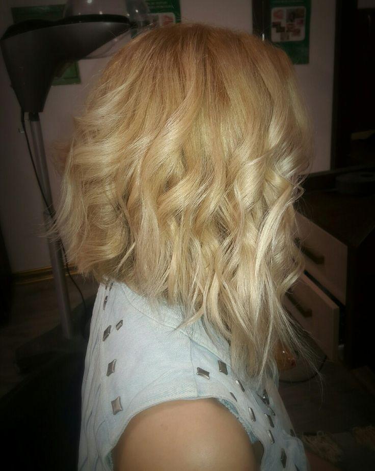#blondehair #longbob  #haircuts