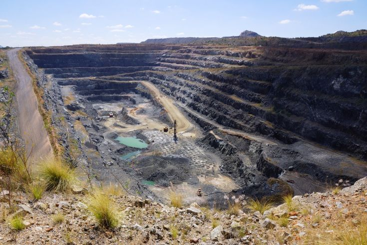 Mogolokwena Platinum Mine is the largest platinum mine in the world and is situated on the Northern Limb of the Bushveld Complex in South Africa. This image shows one of four open pits currently being mined by Anglo Platinum on this mine. South Africa holds around 90% of the world's platinum reserves....