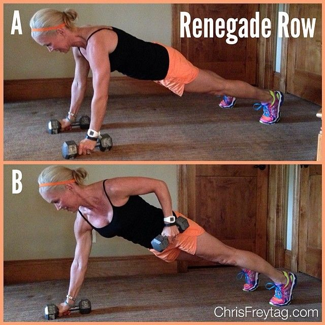 It's that kind of day: More #FitnessFriday: Renegade Row. Awesome move for your core and back muscles! Do 3 sets of 20 reps (alternating arms). #strength #exercise #workout