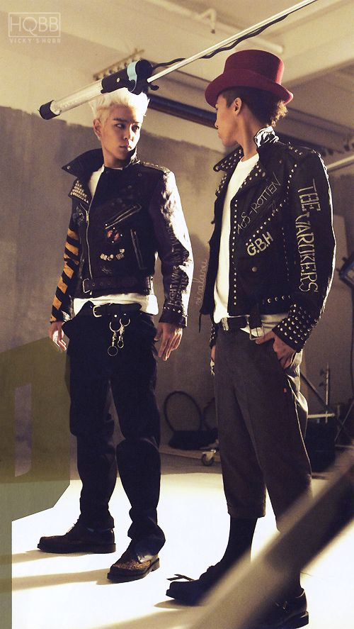T.O.P and GD. I Don't really know them yet, but they're really cute and stylish
