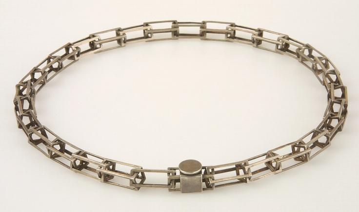 """náhrdelník """"KLECE"""" - patinované stříbro"""