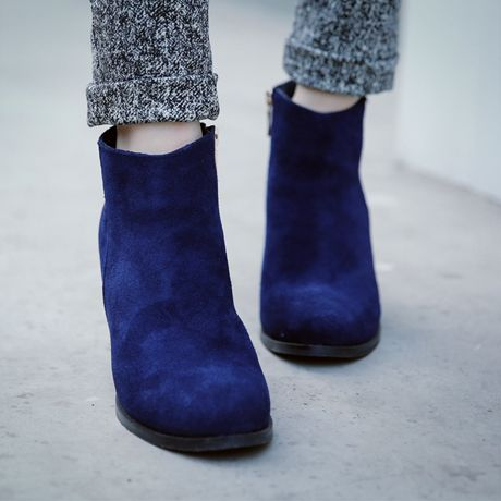 suede chunky ankle