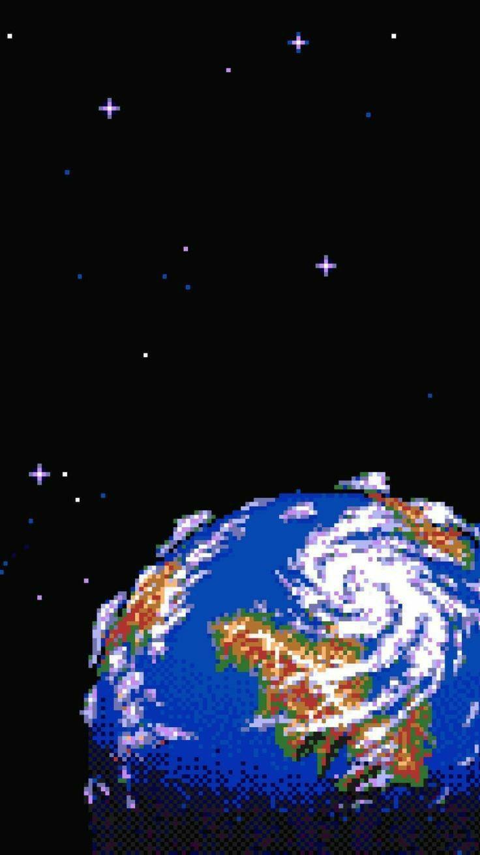 8 Bit World Vaporwave Wallpaper Aesthetic Art Pixel Wallpaper