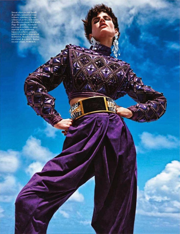 visual optimism; fashion editorials, shows, campaigns & more!: extreme: saskia de brauw and amanda murphy by mario sorrenti for vogue paris ...