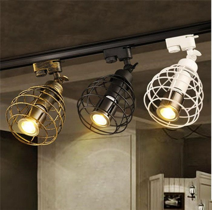 Aliexpress.com  Buy black rustic LED Track Light COB 10W Ceiling Rail Lights spotlight · Led Track LightingIndustrial ... & Best 25+ Industrial track lighting ideas on Pinterest | Track ... azcodes.com