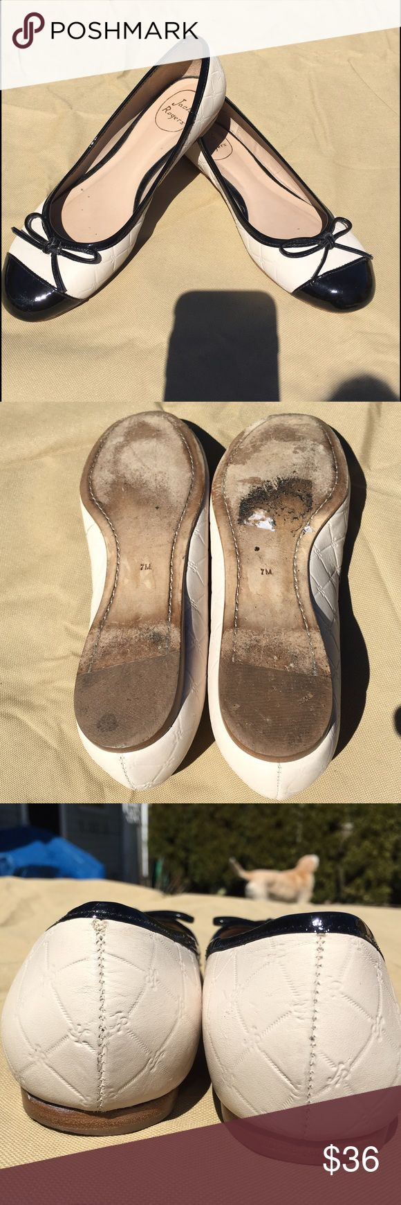 """Jack Rogers ballet flats Gorgeous Jack Rogers quilted leather """"lively"""" flats. Excellent condition. Leather soles. Jack Rogers Shoes Flats & Loafers"""
