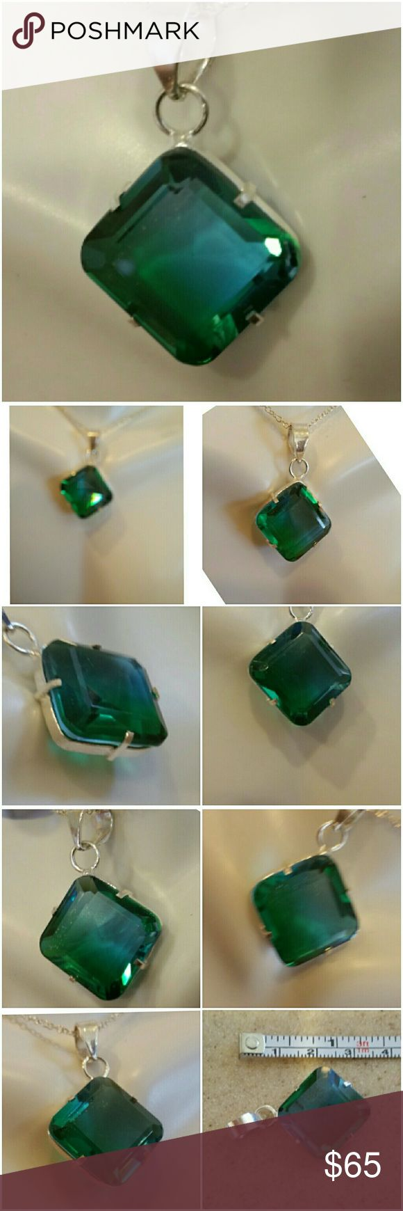 Genuine 6ct Blue/Green Tourmaline Pendant Double Color Tourmaline. ...such a beauty!  Set in 925 stamped Solid Sterling Silver. Please see all pictures for details. Brand New. Never Worn. Wholesale Prices. MSRP 560.00 Jewelry Necklaces