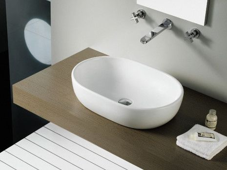 Toulouse Bathco umywalka nablatowa 59x415 - 4037  http://www.hansloren.pl/Ceramika-sanitarna/Umywalki/BATHCO