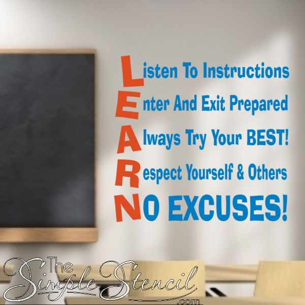 Wall Decorations For School : Best classroom and school wall quotes lettering