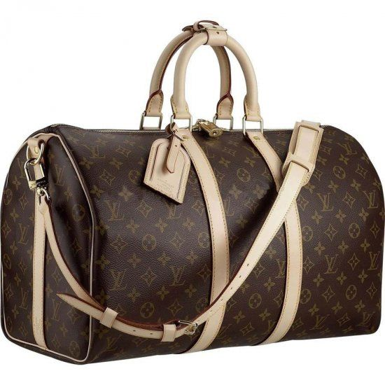 Louis Vuitton Duffel Bag-a cylindrical canvas bag closed by a drawstring and carried over the shoulder. Ready To Wear.