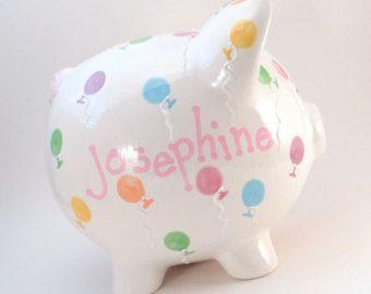 Sandía hucha alcancía personalizada de cerámica por ThePigPen