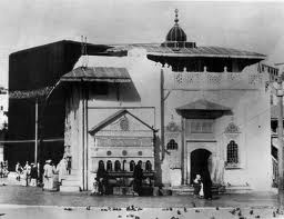 A view of the Ka'aba in the Holy Meccan Mosque, Hejaz    الكعبة المشرفة في الحرم المكي، مكة، الحجاز