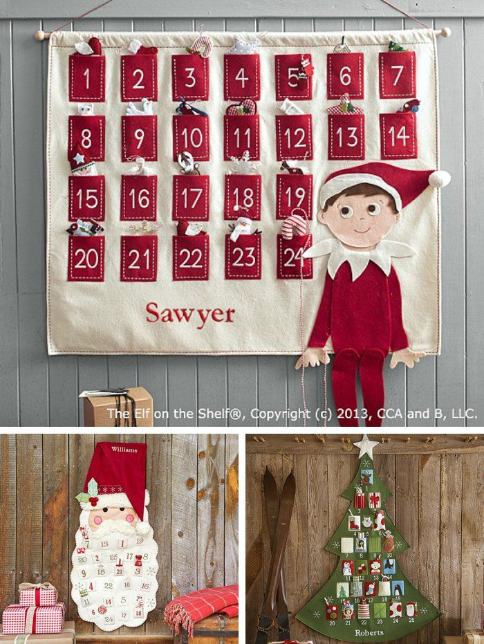 Christmas Calendar For Kids : Unique fabric advent calendar ideas on pinterest