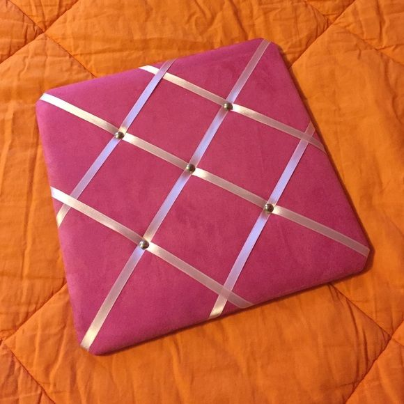 """Pink french memo board Pretty pink French memo board, perfect for hanging notes or pictures. It is a 13"""" square Accessories"""