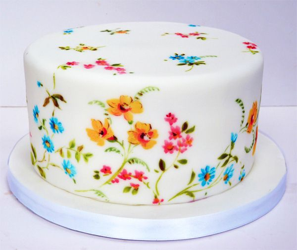 painted cake.