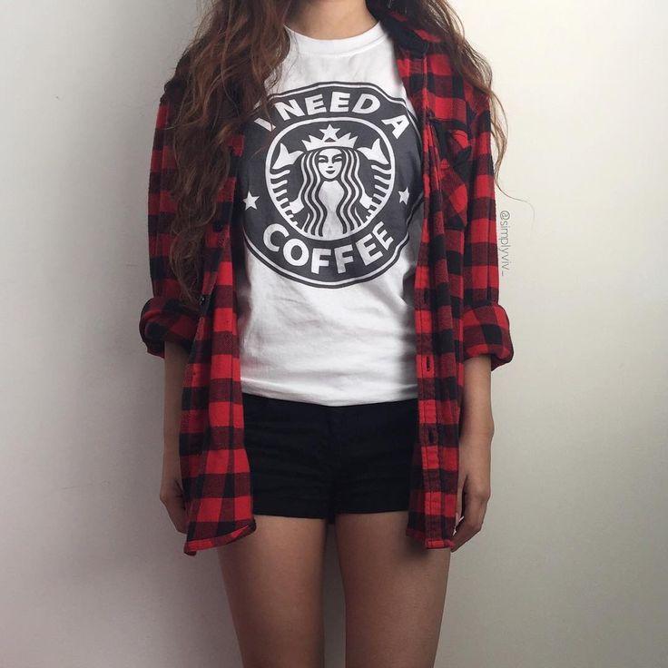 Starbucks Tshirt | Starbucks Shirt | Coffee Tshirt | Coffee Shirt | Melonkiss | #coffee #starbucks #ootd