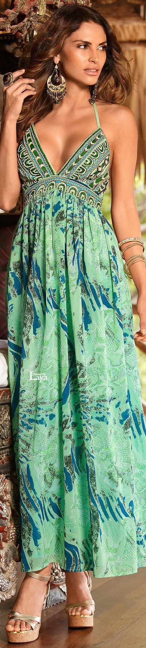 Summer Green Long Dress, Boston Proper