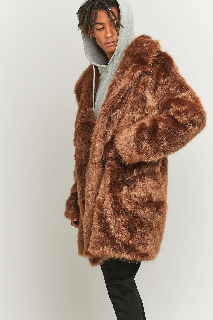 The New County Brown Faux Fur Long Coat