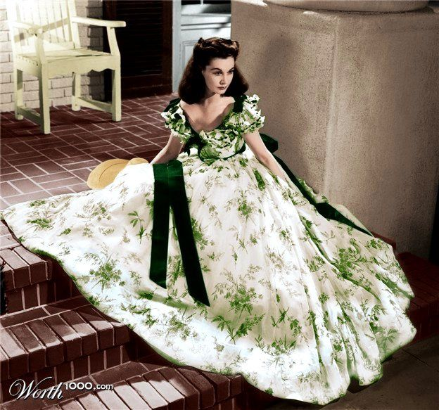 Scarlett on the porch of Tara in Gone With The Wind