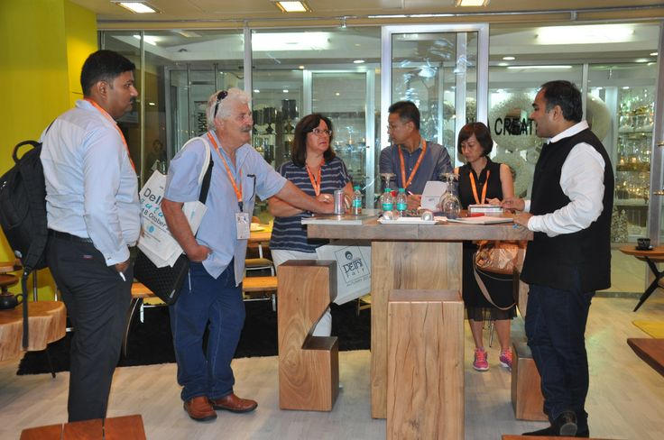 Buyers are busy at The Home Expo India, 2016 #homeexpo #tradeshow — at India Expo Mart.