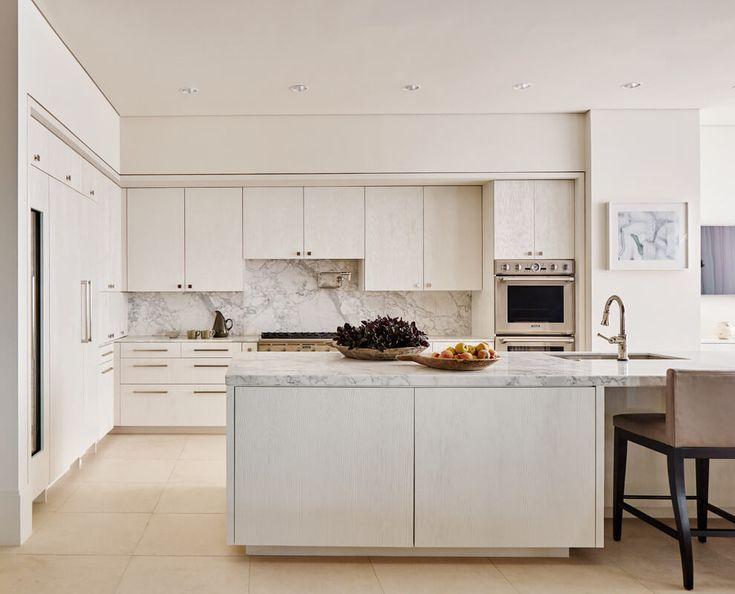 A Sleek Modern Kitchen With Stunning Stone Benchtops. Part 56