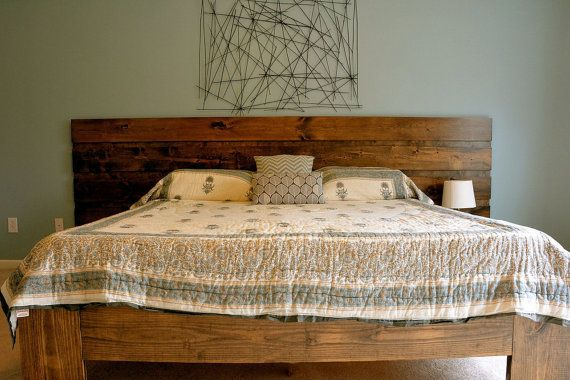 Best Custom Rustic Platform Bed Or Headboard Contemporary Modern Minimalist Industrial Beautiful 400 x 300