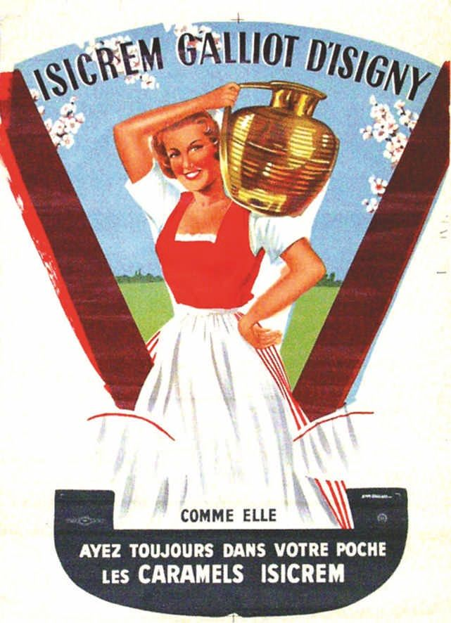 Isicrem Galliot d'Isigny - Caramels Isicrem - vers 1950 - (Emmanuel Gaillard) -