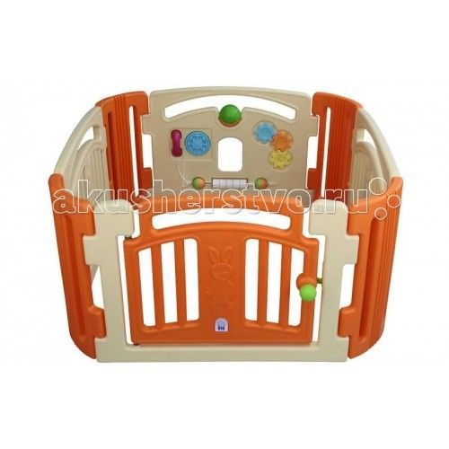 Pilsan Ограждение Angel с игровой панелью  Pilsan Ограждение Angel с игровой панелью - великолепно подойдет для создания игровой зоны для малыша. Внутри есть множество различных игровых элементов.  Рядом с манежем можно установить горку или наполнить манеж шариками, и получится великолепная игровая площадка для ребенка. Этот манеж отлично впишется в интерьер детской комнаты; в теплую погоду его можно поставить на улице.   Особенности: предназначен для детей от 10 месяцев размер - 118 х 118 х…