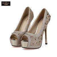 2015 новое поступление лето в стиле секси туфли на высоких каблуках сандалии женские горный хрусталь обувь свадебный принцесса туфли на высоком каблуке золото и серебро