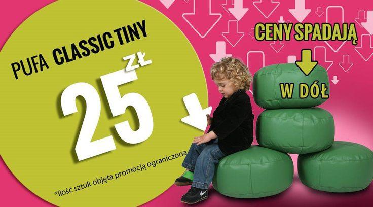 Pufy Classic świetnie nadają się do każdego pomieszczenia. Są dodatkiem do stolików, ław, potrafią zastępować tradycyjne krzesła lub fotele. Świetnie nadają się do oglądania TV a dzieciom służą do beztroskich zabaw. Pufy Classic Tiny są bardzo lekkie i wygodne a teraz także występują w świetnej cenie!!  http://pufy.pl/dla-dzieci/98-pufy-classic.html  #pufy #pufa #tiny #wygodne #pufydosiedzenia #poduchydosiedzenia