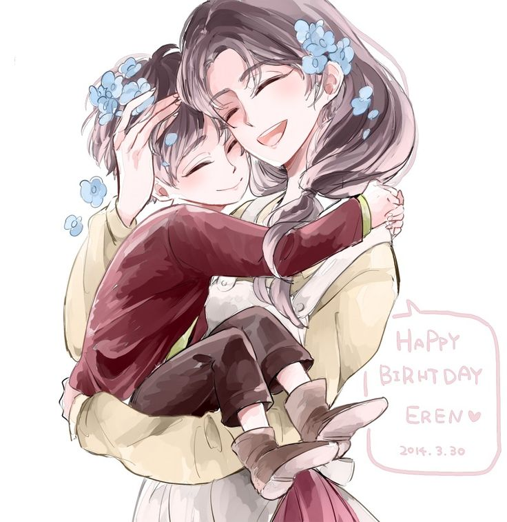 Attack On Titan. Eren And His Mama. This Makes Me Wanna