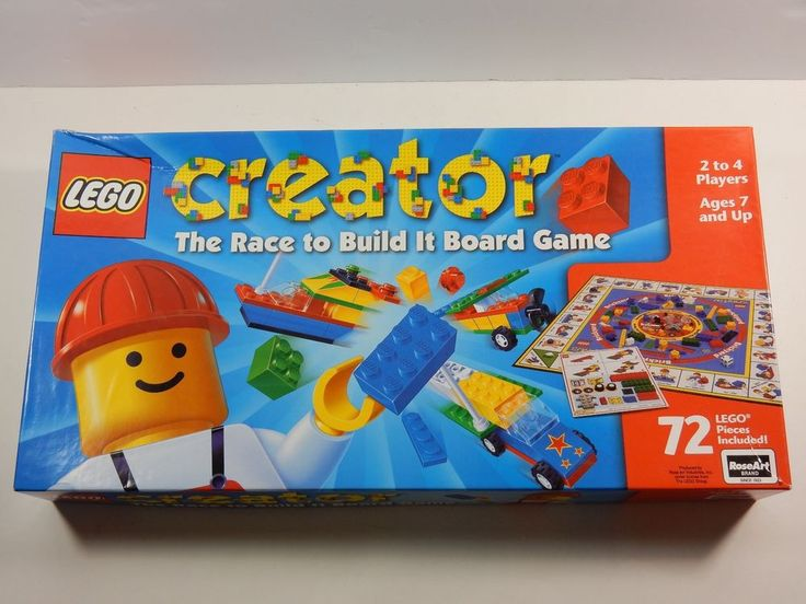 Lego Creator The Race To Build It Board Game COMPLETE #RoseArt