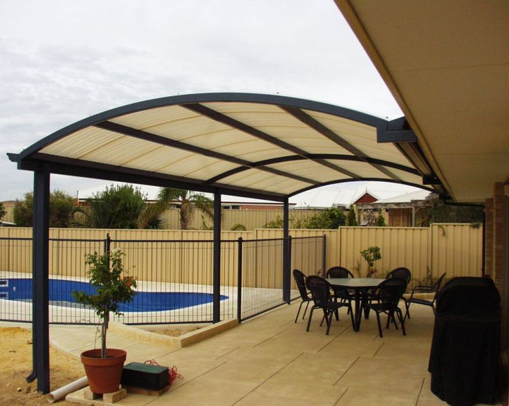 arched aluminum patio cover design to give more head room - 25+ Best Ideas About Aluminum Patio Covers On Pinterest