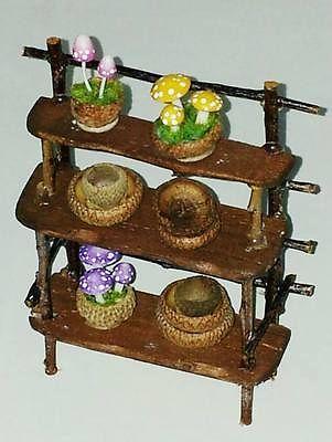 1/12+scale+FAIRY+witch+rustic+DISPLAY+++ · Fairy FurnitureMiniature FurnitureFurniture  IdeasFairy ...