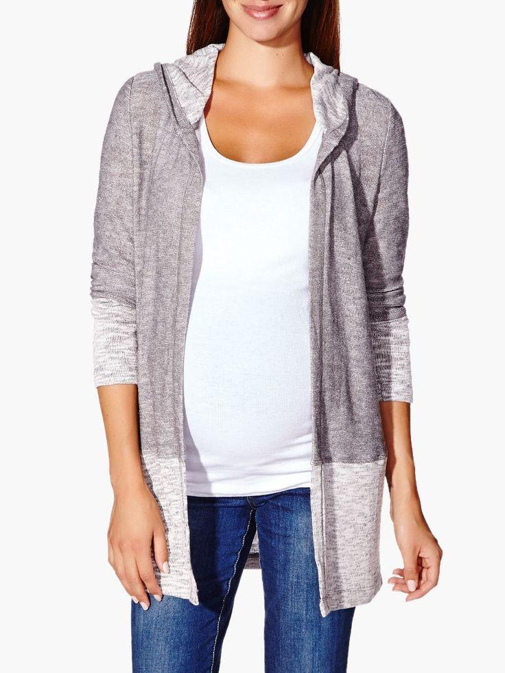 Long Sleeve Hooded Maternity Cardigan